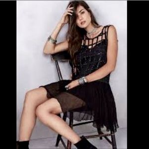 FREE PEOPLE Sequin Shell Cage To DIe For Dress XS